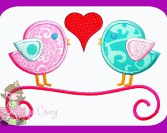 Love Birds applique design