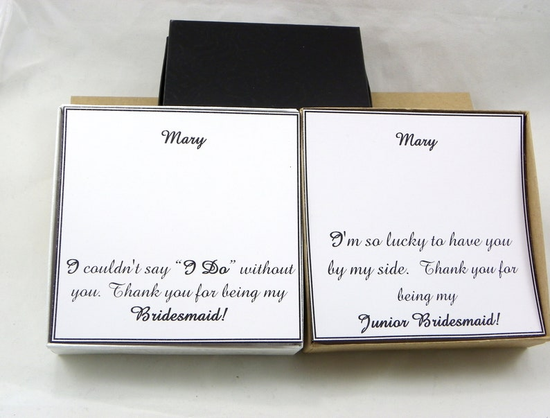 Bracelet Box for jewelry Personalized Thank You For Being My Bridesmaid Box Personalized note card with box Bridesmaids gift Special day