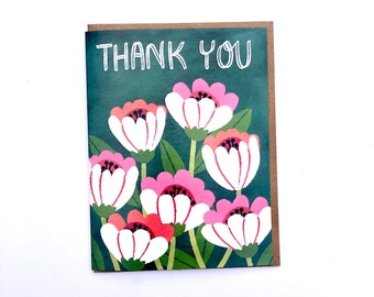 Thank You Cone Flower - A2 Greeting Card with Envelope