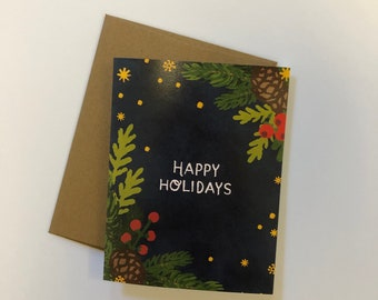Happy Holidays - A2 Greeting Card with Envelope