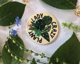 "Crazy Plant Lady - 2.5x2.5"" iron on patch"