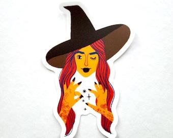 Witchy Woman Sticker - matte finish, waterproof, vinyl