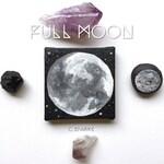 Sale - Full Moon Mini Painting with Mini Easel - Moon Phases - Lunar - Universe - Mini Art - Moon Painting - Full Moon - Acrylic - Star Pain