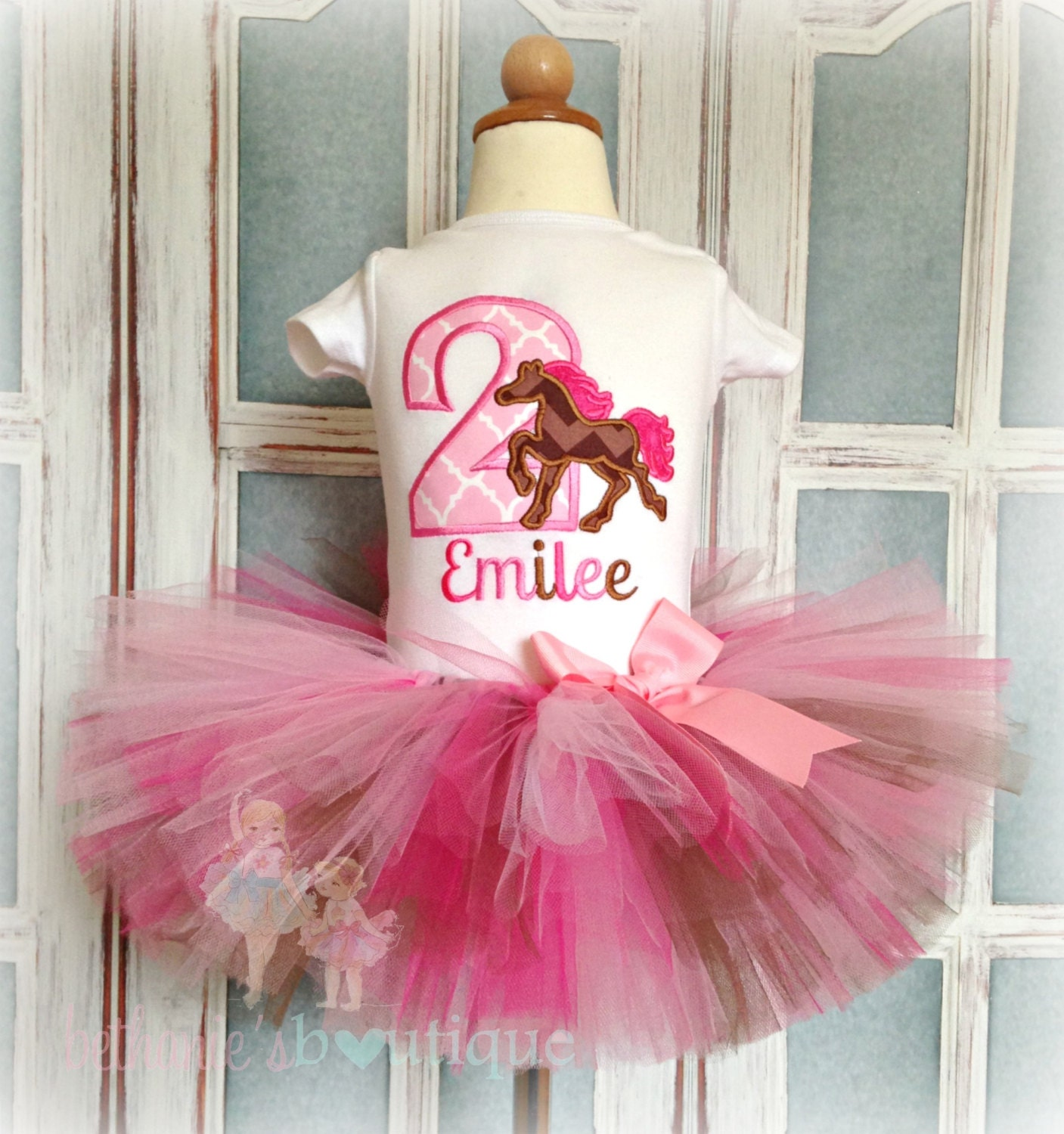 Horse Birthday Outfit Cowgirl Tutu