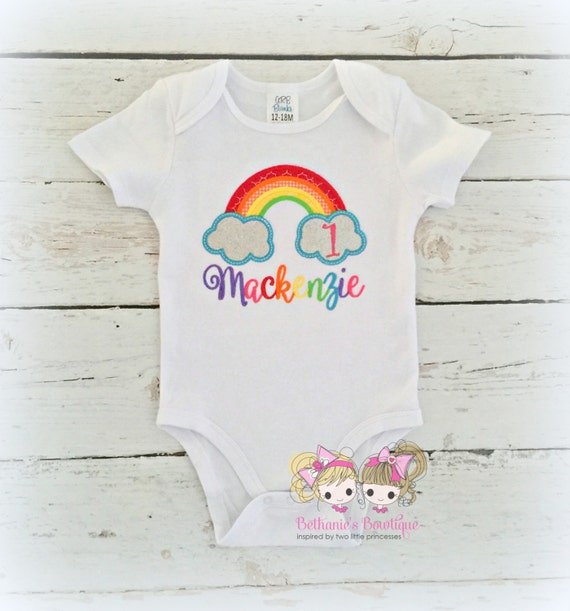 Rainbow Birthday Shirt 1st
