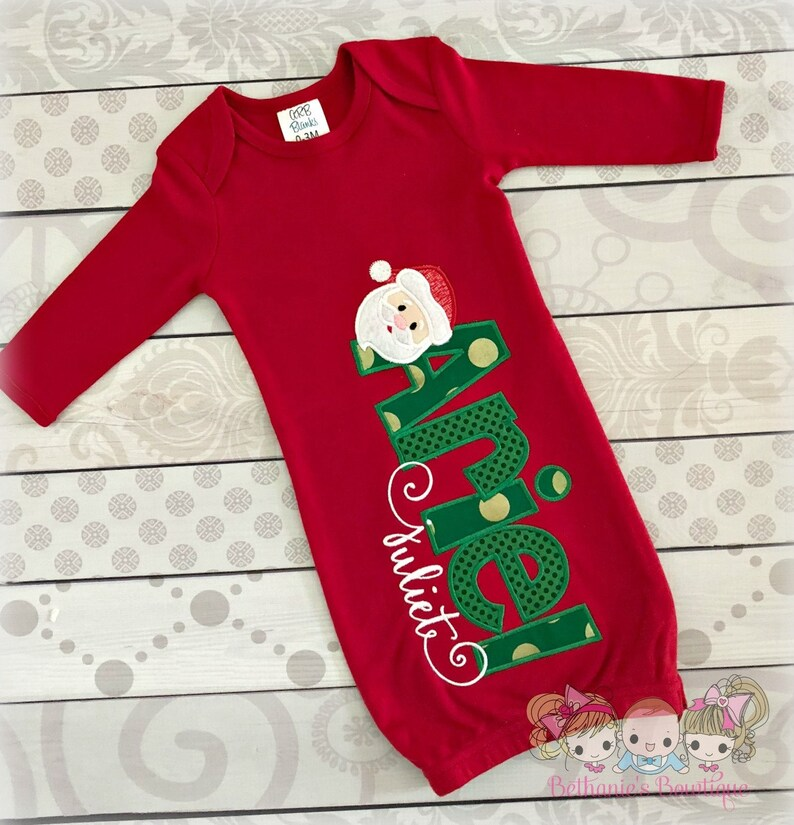 1ef7287cd60c Newborn Christmas outfit Christmas coming home outfit girl