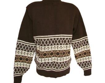 fa758f113e411 Men s Vintage Sweater    Men s Jumper Sweater    Men s Pullover Sweater    Vintage  70s Sweater    Men s Large Sweater