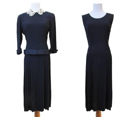 Vintage 40s Dress // Vintage 50s Dress // 40s Dres