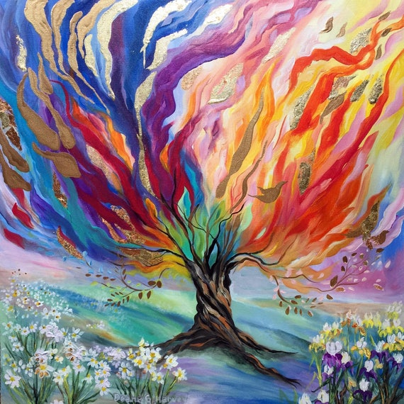 Tree Of Life Paintings 20x20x3 4 On Canvas