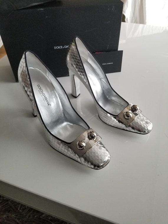 Silver dolce Gabbana heels