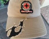 Vintage Schwinn Stingray Hat,Vintage Bike Hat,Vintage Bike Cap,stingray hat,torn hat,Vintage Schwinn cap,khaki hat,1990 39 s-2000,tan hat