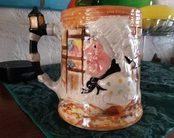 Vintage T.H. Sandland Mug,Toby Style Mug,Sairey Gamp,Sam Weller Mug,Lancaster Sandland,Hand Painted in England,character mug,charles dickens