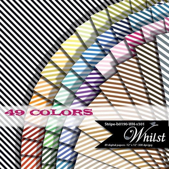 Stripe Digital Paper Scrapbook Background Classic With Black Etsy