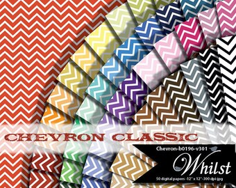 Chevron digital paper,  digital paper chevron, digital scrapbook paper chevron printable invitation supply  : b0196 v301 50C