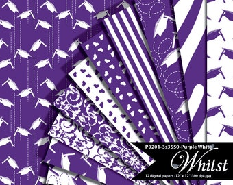 Purple digital paper, graduation purple, digital cap paper, college digital paper high school purple : p0201 3s3550C IP