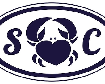 Personalized Heart Love Crab Logo with Initials