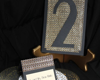 Hollywood Glam Sparkling Table Numbers