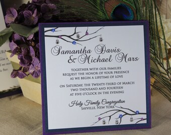 Sparkling Lanterns and Branches Invitation Suite