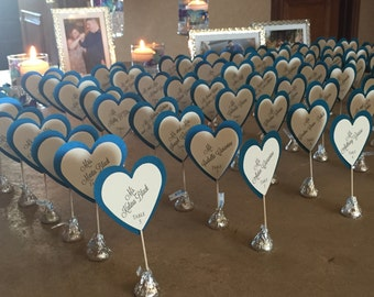 Hearts and Kisses - Hershey Kiss Escort or Place Cards