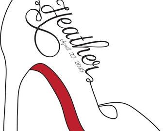 Stiletto Heel Logo Personalized with Name