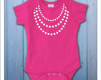 Girly Baby Pearls Bodysuit
