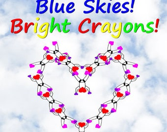 Blue Skies!  Bright Crayons!  -  Skydiving Coloring and Activity Book