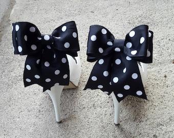Polka Dot Shoe ClipsWedding Shoe Clip Bridal Shoe Clips