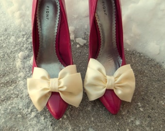 Wedding Shoe Clips Bridal Shoe Clips, Shoe Clips for wedding shoes, bridal shoes, Satin Bow SHoe Clips, wedding accessories,