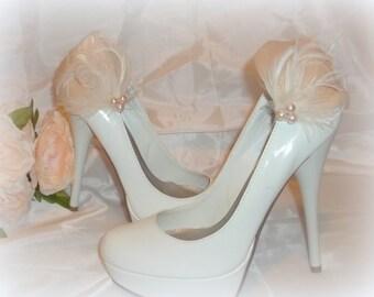 Bridal Shoe Clips, Wedding accessories, Wedding shoe clips,  Shoe Jewelry,  Shoe Accessories,  Bridal Accessories,  Shoes Clips, clip ons
