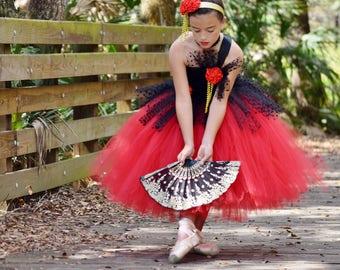 51142af32 Nutcracker Dress - Spanish Chocolate Costume - Ballet Tutu Dress - Dance  Costume - Nutcracker Ballet Costume - Girls Christmas Dress
