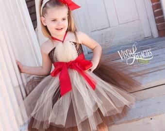 1ea649dba REINDEER Tutu Dress - Christmas Tutu Dress - Reindeer Antlers - Christmas  Dress For Girls - Halloween Costume
