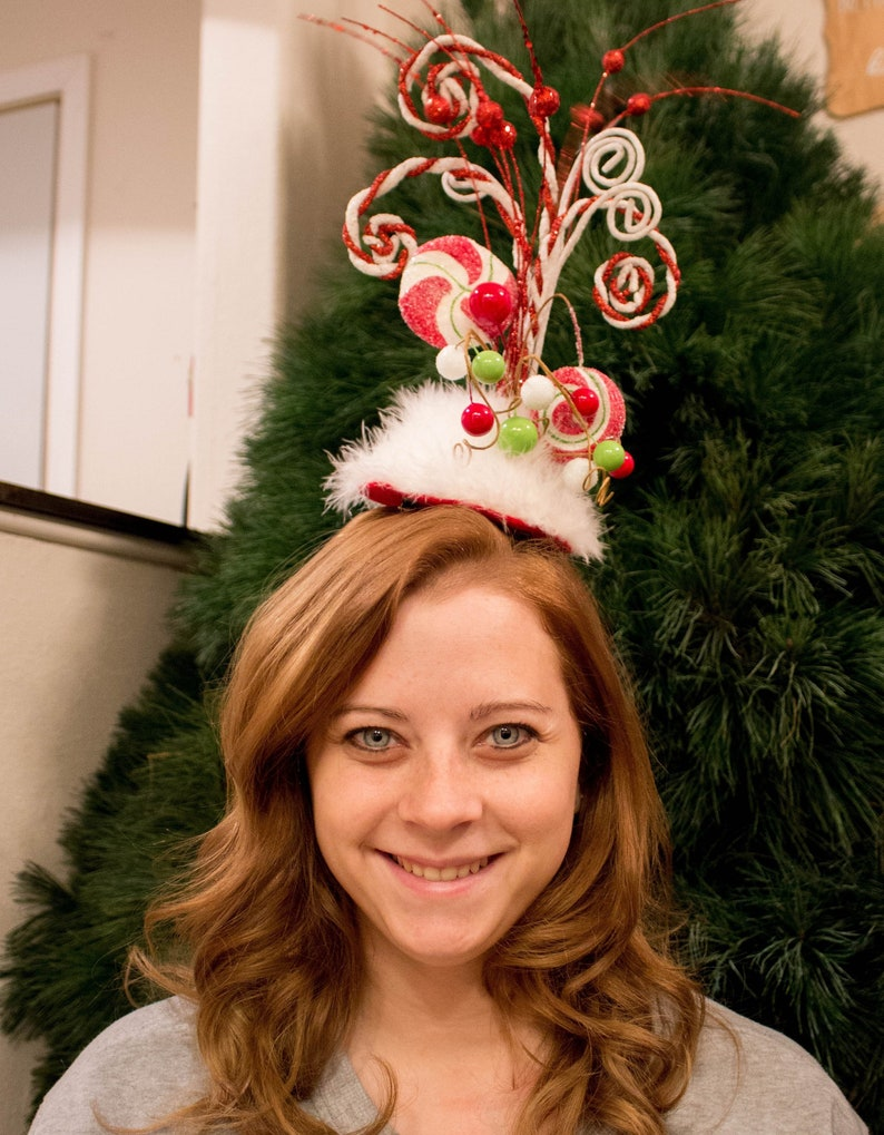 19a37336c Adult Christmas Headpiece Pageant Headpiece Adult   Etsy