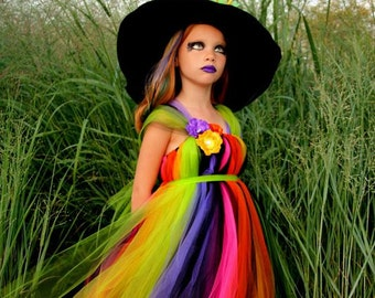 Witch Costume - Tutu Dress - Costume - Fancy Witches Hat -  Halloween Witch Costume - Pageant Dress - Pageant Costume