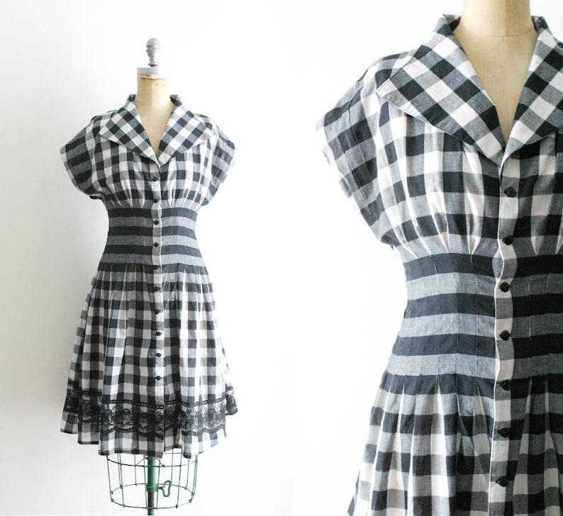 a32bc8309a4 Style des années 1950 Vintage robe des Vichy de robe des