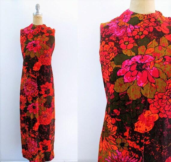 Vintage 1970s Chinese Dress Vintage Cheongsam Vint