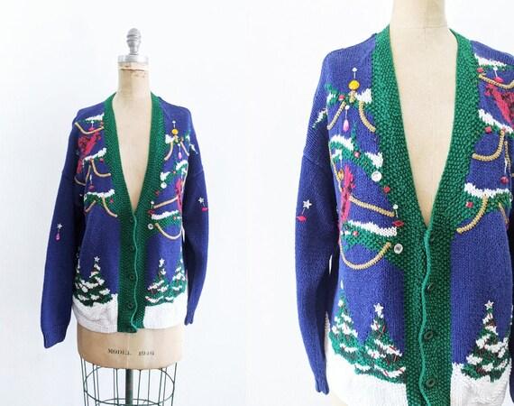 Vintage Christmas Sweater Applique Christmas Sweat