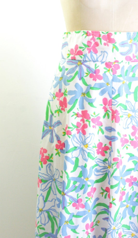 Vintage 1970s Floral Maxi Skirt 70s Skirt 70s Max… - image 2