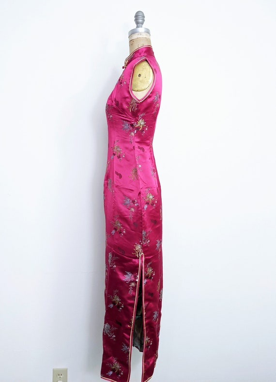 Vintage Red Chinese Dress Cheongsam Qipao Red Che… - image 4