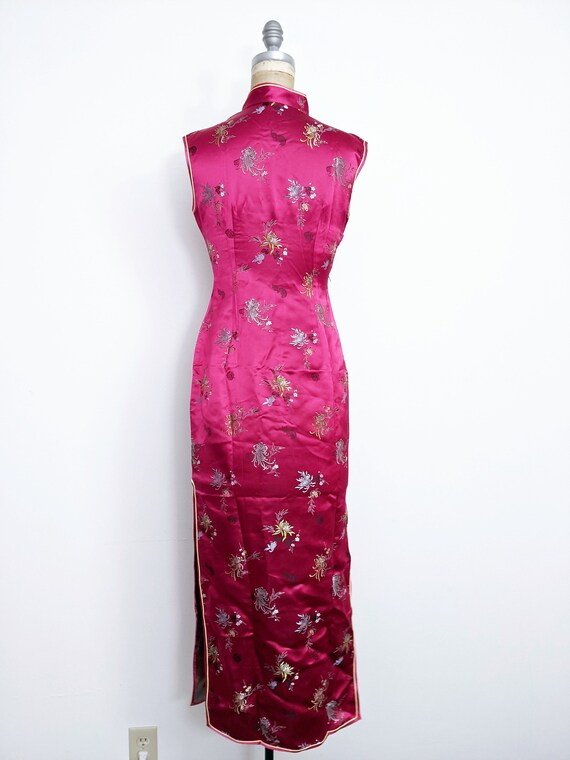 Vintage Red Chinese Dress Cheongsam Qipao Red Che… - image 5