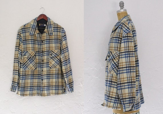 Vintage Pendleton Plaid Coat Pendleton Wool Coat O