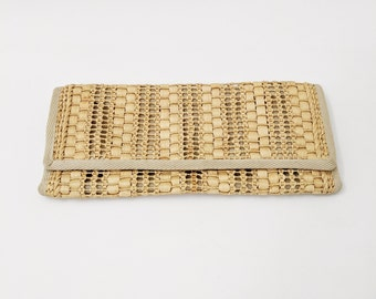 Vintage Straw Clutch Vintage Straw Purse Vintage Straw Wallet Tiki Purse Tiki Clutch 50s Clutch 60s Clutch 50s Purse 60s Purse Rattan Woven