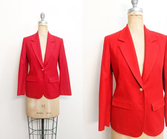 Vintage Pendleton Blazer Red Pendleton Blazer Pend