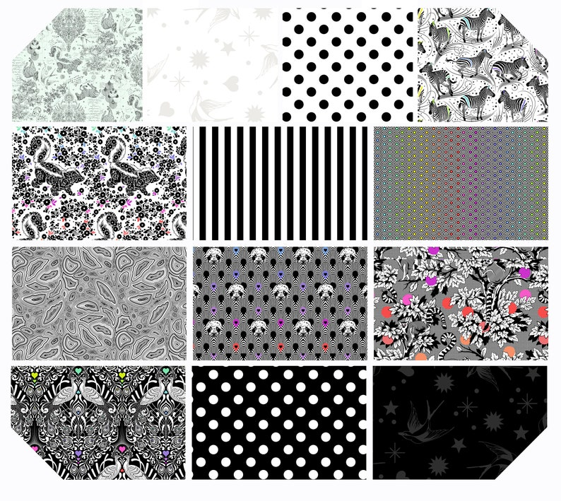 Bundles of LINEWORK By Tula Pink for Free Spirit 13 Pc. IN STOCK Hand Cut