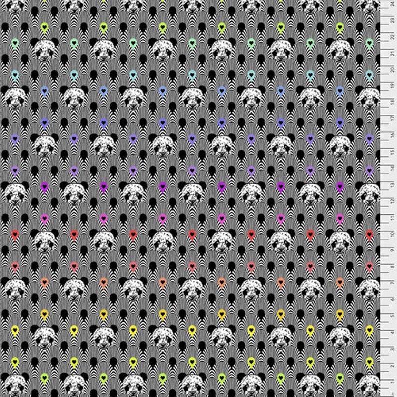 IN STOCK Pandamonium in INK by Tula Pink LineWork for Free Spirit Fabrics
