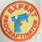 Expert Procraftinator Embroidered Patch