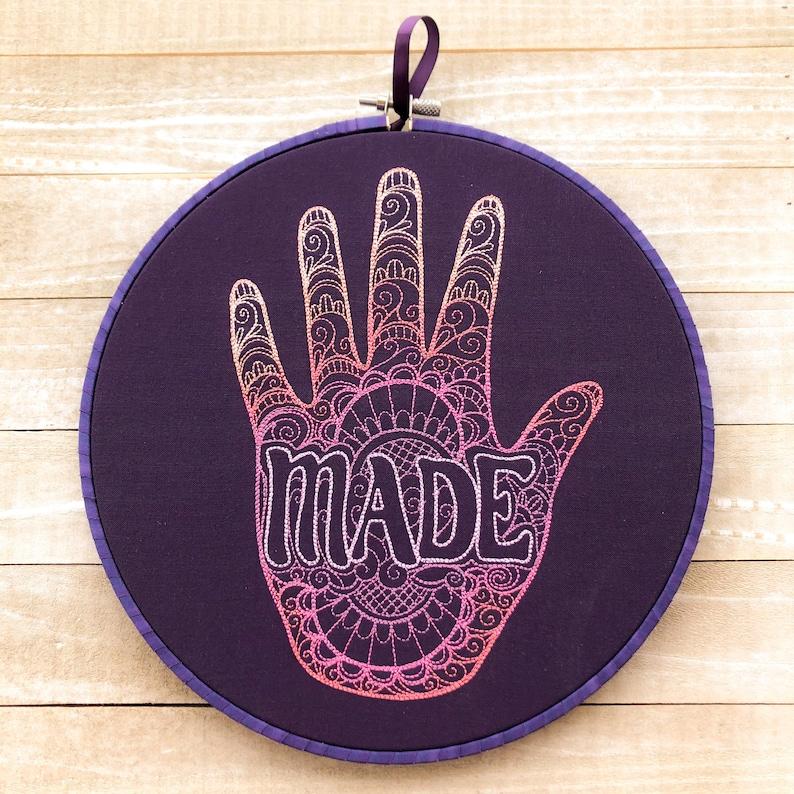 Hand Made Handmade Embroidery Wall Art image 0
