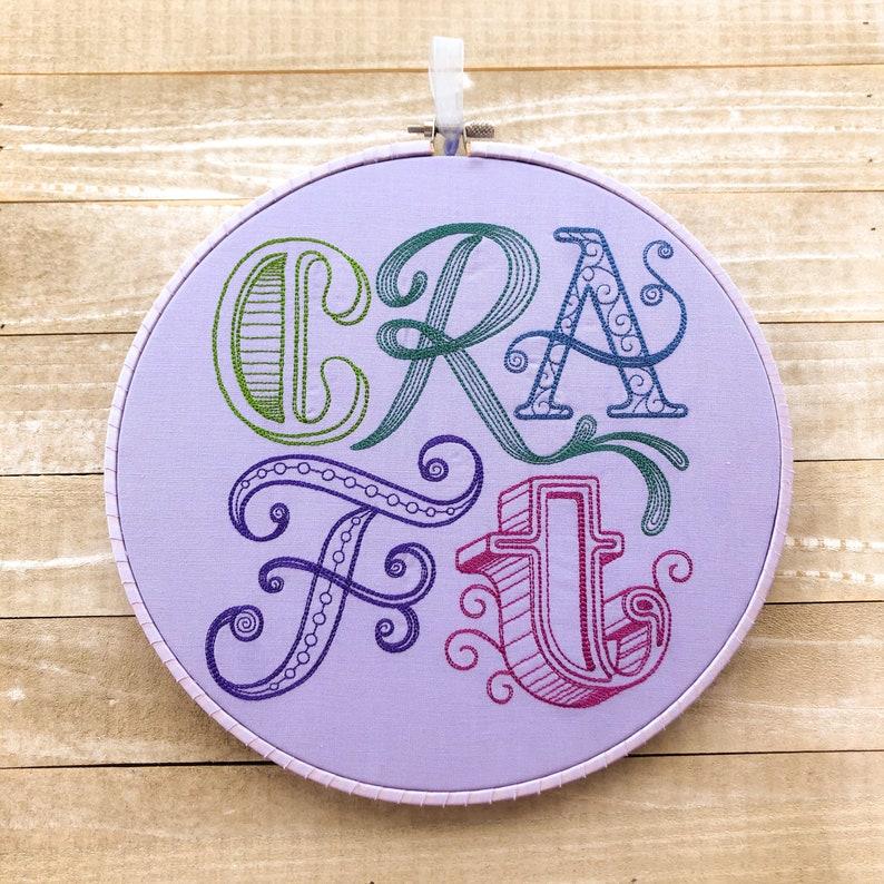 CRAFT Handmade Embroidery Wall Art image 0