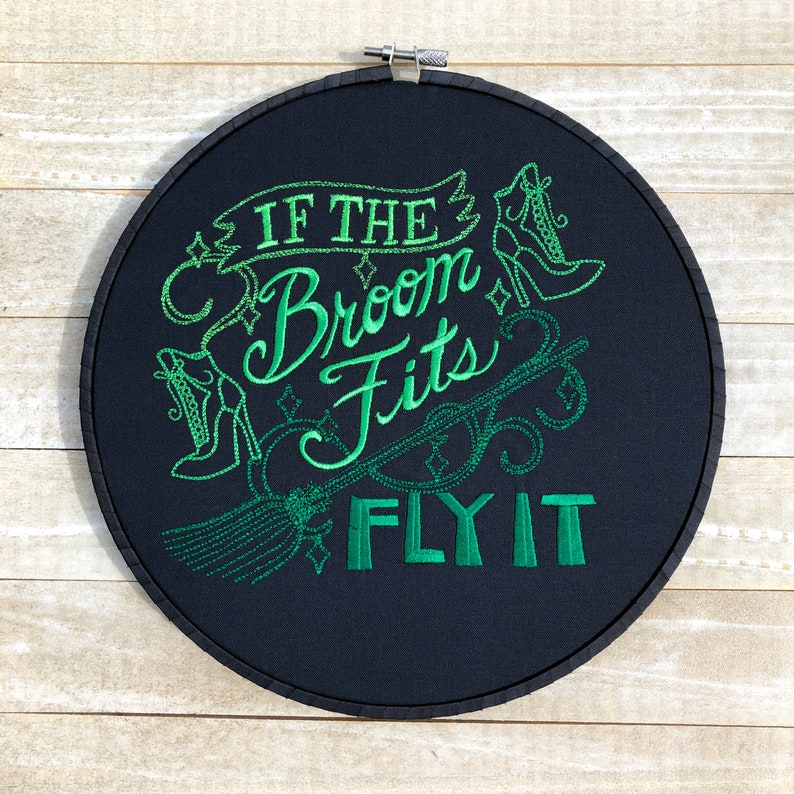If the Broom Fits Embroidery Hoop Wall Art image 0