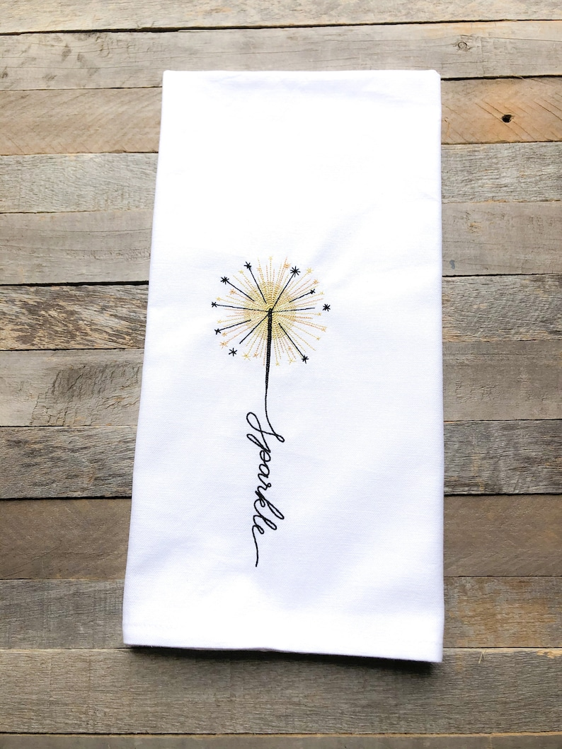 July: Sparkle Sentiments of the Year Kitchen Towel image 0