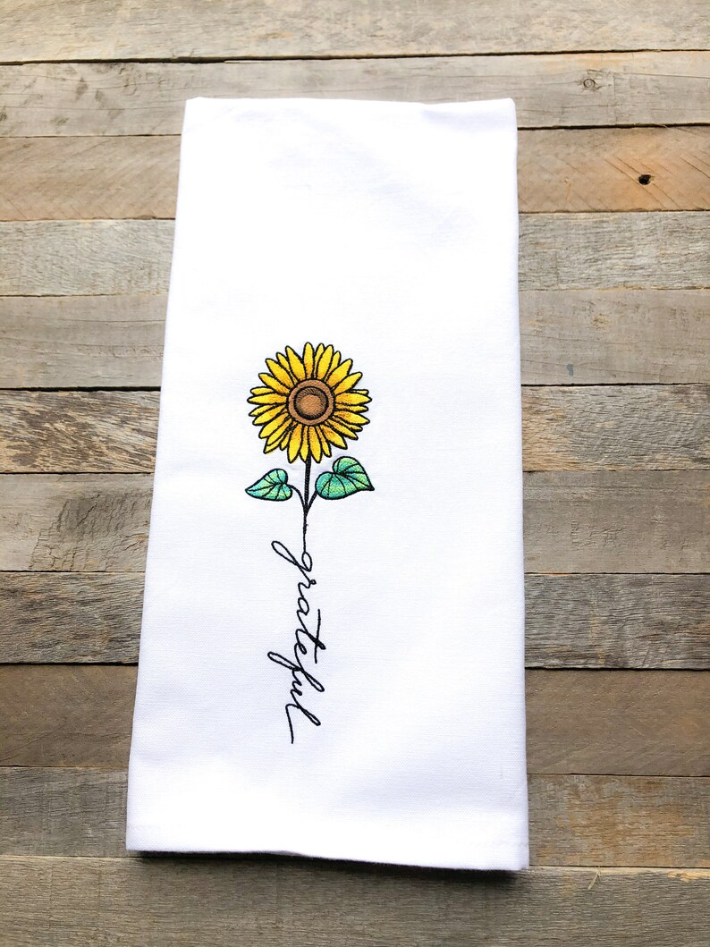 November: Grateful Sentiments of the Year Kitchen Towel image 0